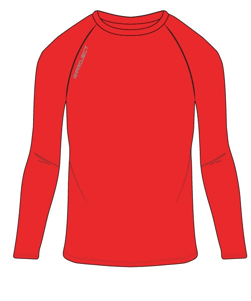 Youth Long Sleeve Compression Top - Red