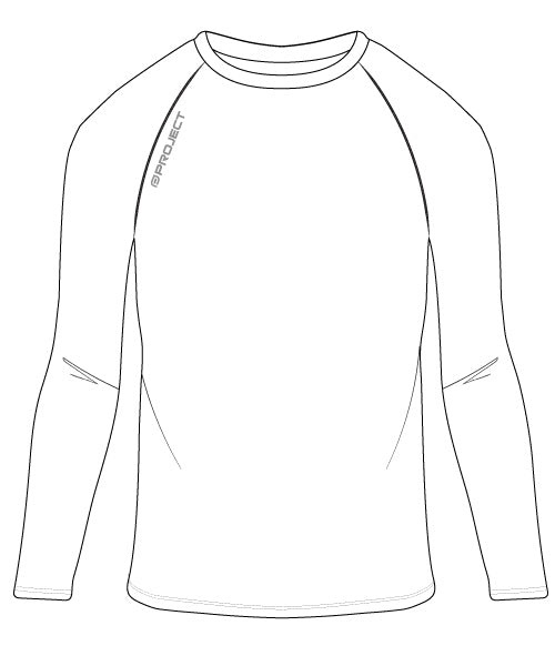 Youth Long Sleeve Compression Top - White