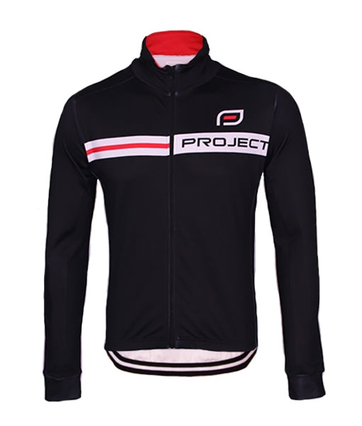 Men's Winter Cycle Jacket - BLACK/RED STRIPE