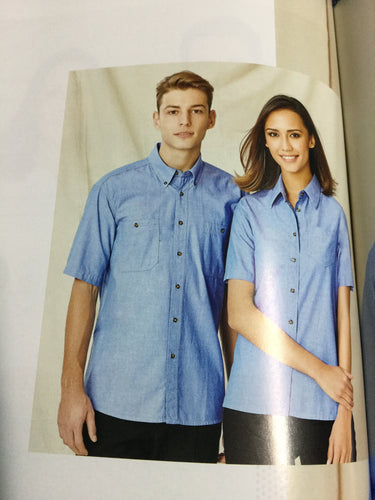 MENS S/S WRINKLE FREE CHAMBRAY