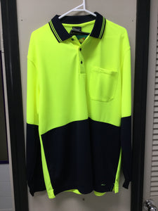 HI VIS LONG SLEEVE WITH CUFF TRADITIONAL POLO