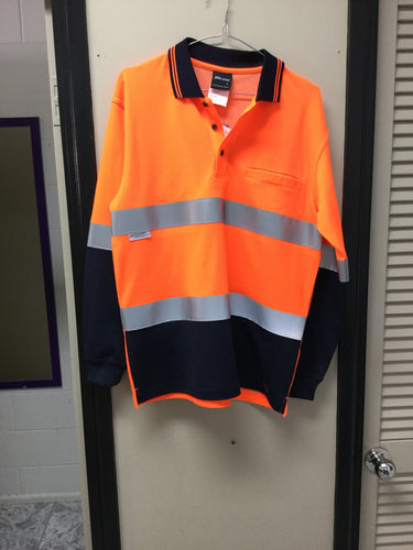 HI VIS D/N COTTON BACK POLO WITH TAPE