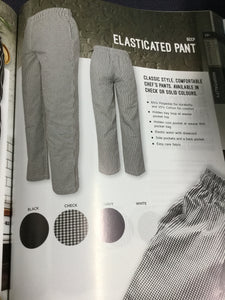 ELASTIC CHECK PANTS