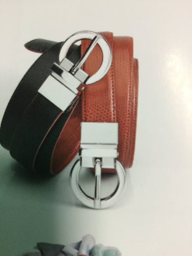 LADIES LEATHER REVERSABLE BELT