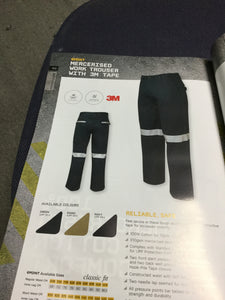 M/RISED WORK TROUSER WITH TAPE