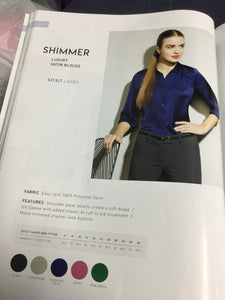 SHIMMER LUXURY SATIN BLOUSE
