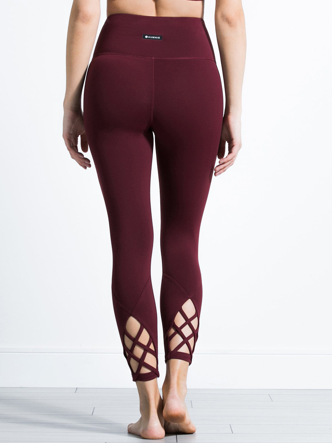 REARVIEW ANKLE CROPS, BORDEAUX