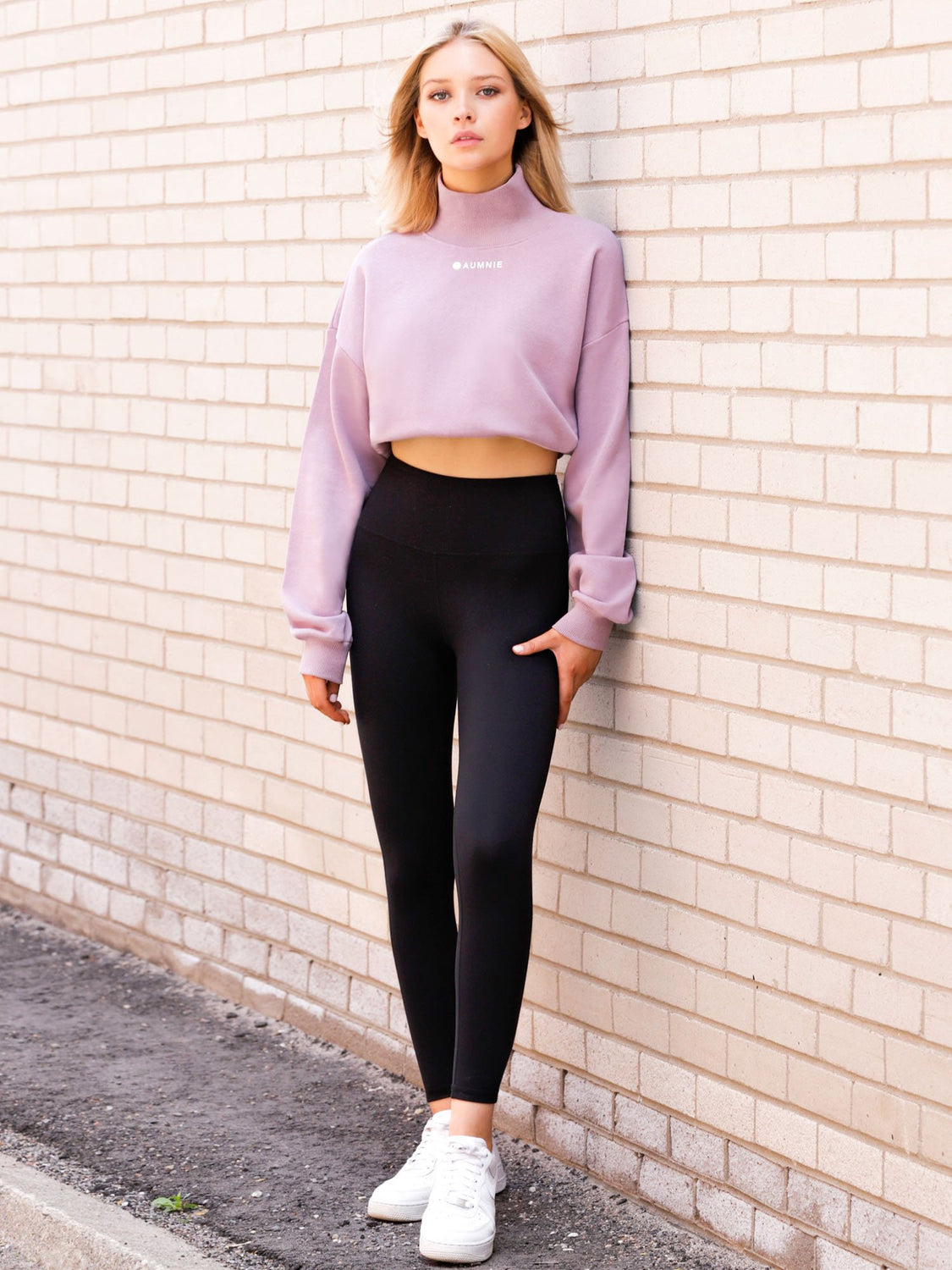 CT MOCK NECK SWEATSHIRT, PURPLE