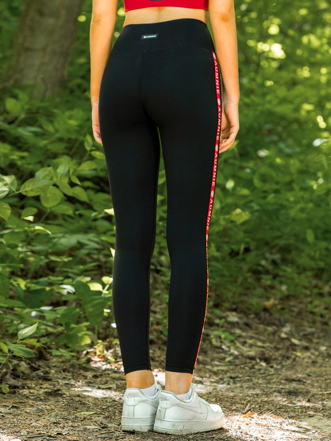 LOGO PANTS, BLACK/RED