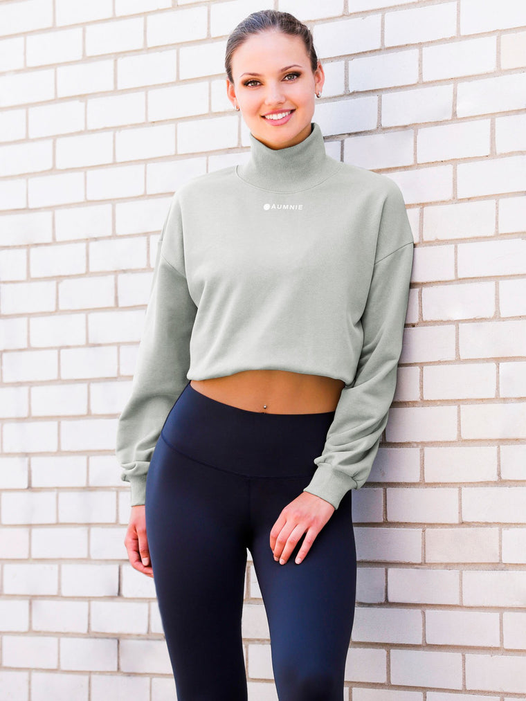 CT MOCK NECK SWEATSHIRT, GREEN
