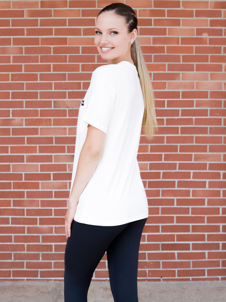 OVERSIZED POCKET TEE, WHITE