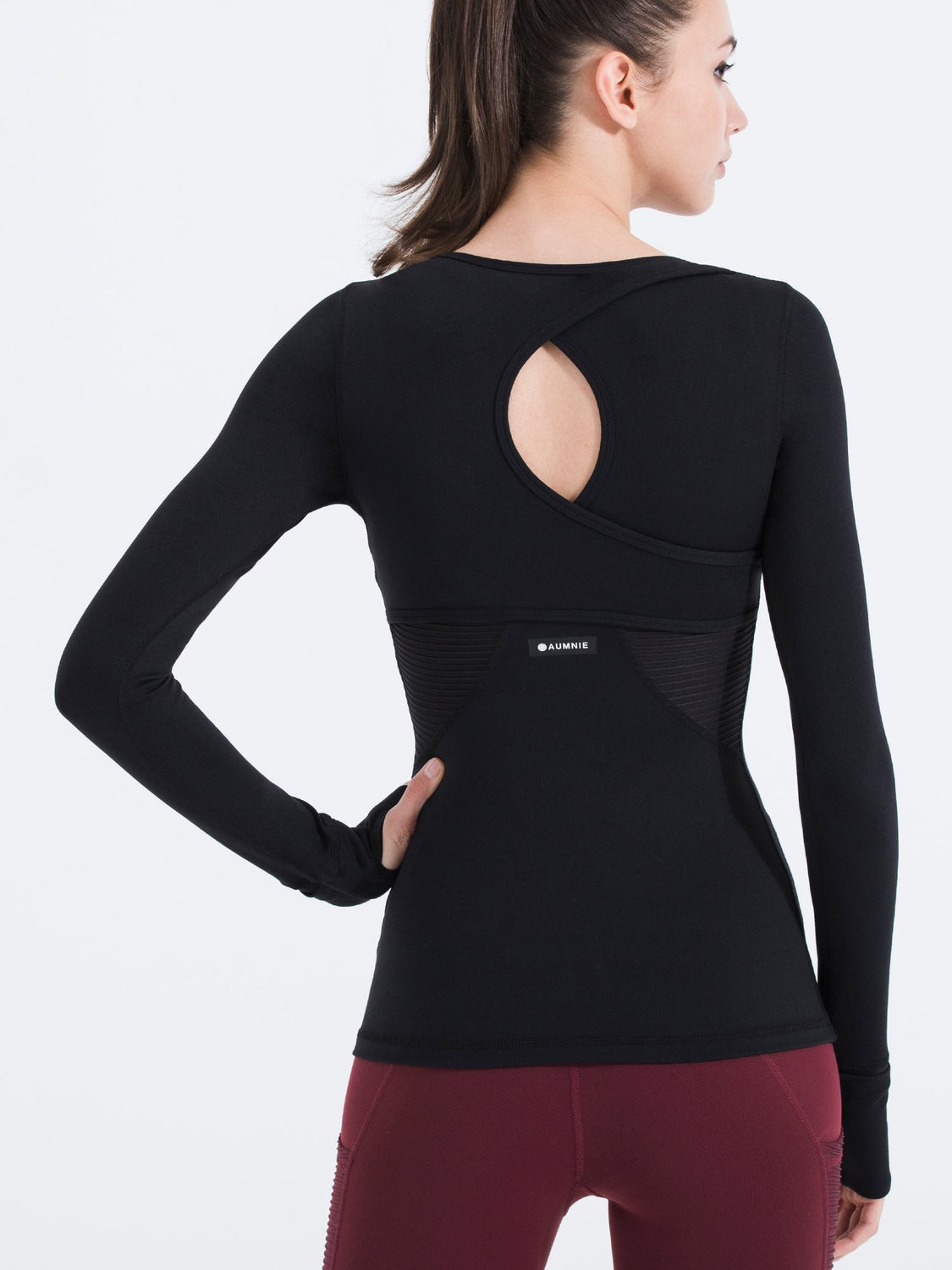 VORTEX LONG SLEEVE TEE, BLACK