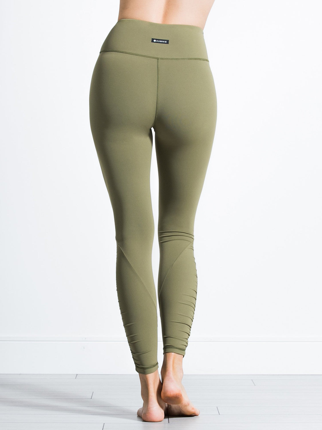 RUCHED NUDE PANTS, SAGE