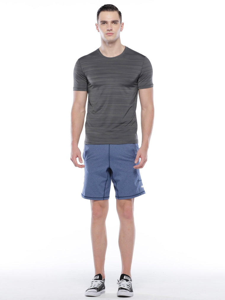 SPEED SHORT, HEATHER BLUE