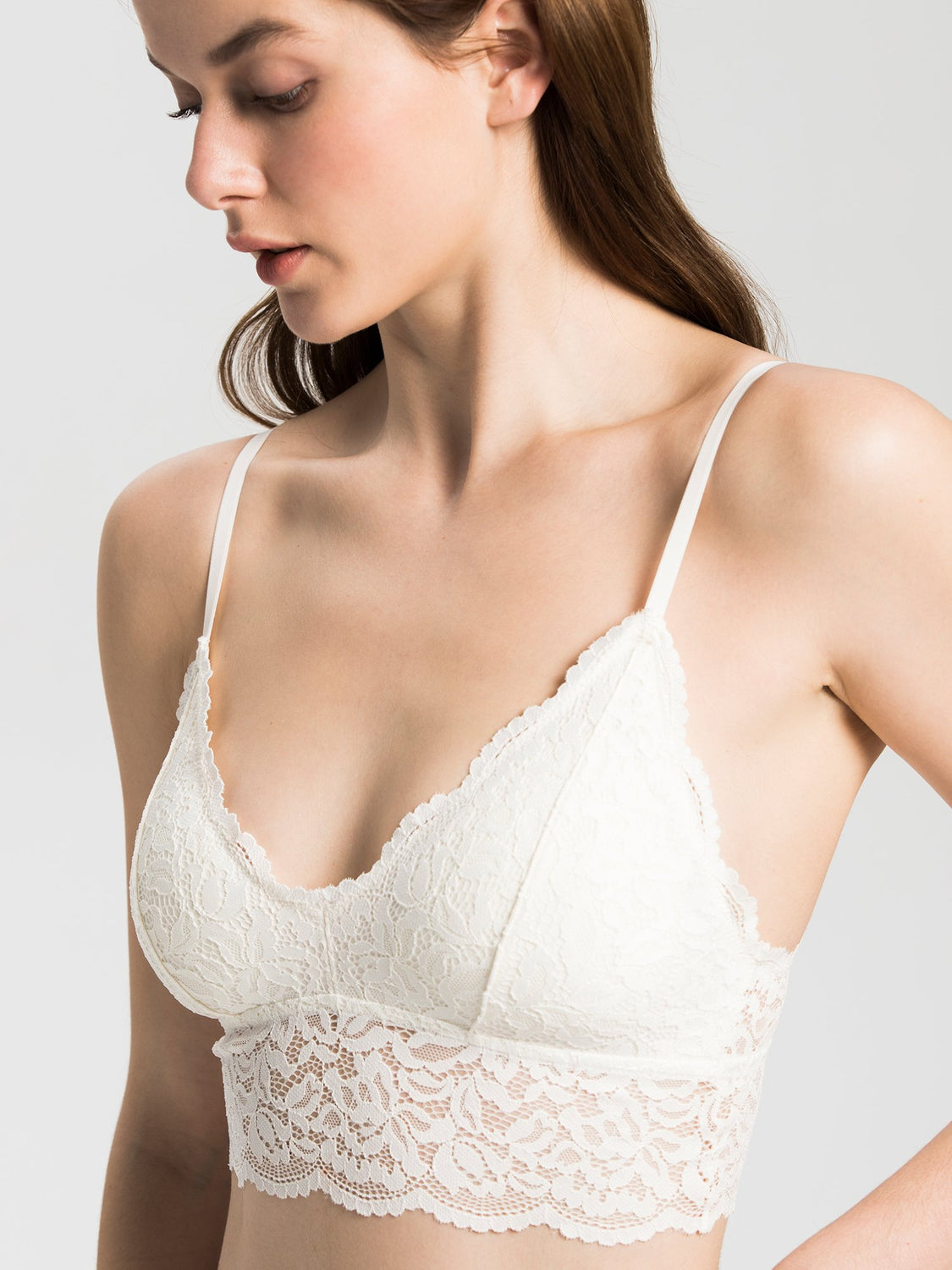 LACE BRALETTE SET, WHITE