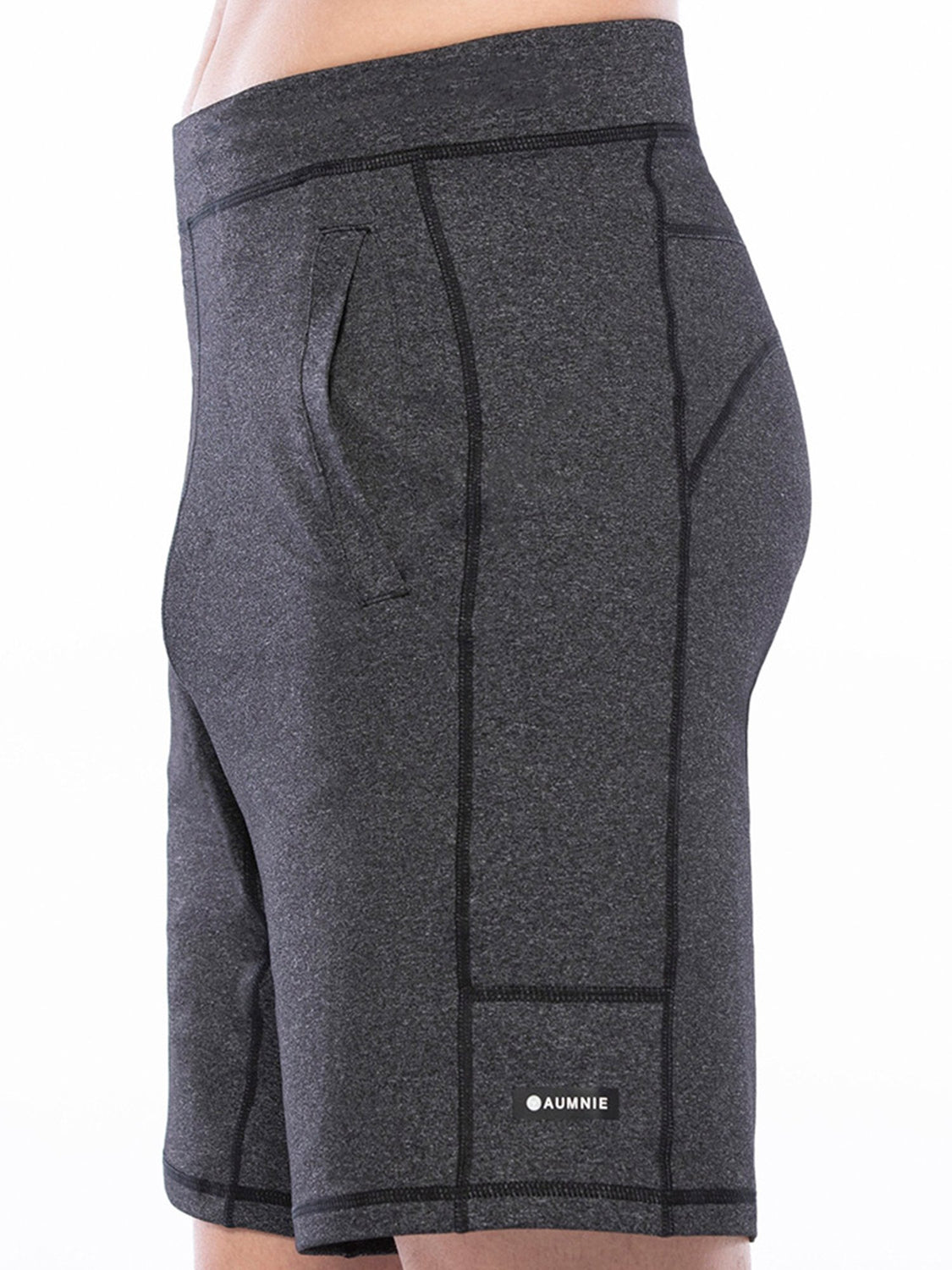 SPEED SHORT,HEATHER BLACK