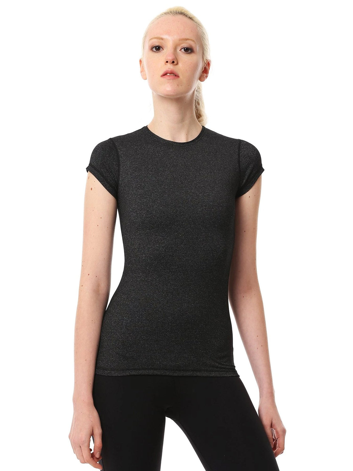 ICE TEE 2.0, HEATHER BLACK