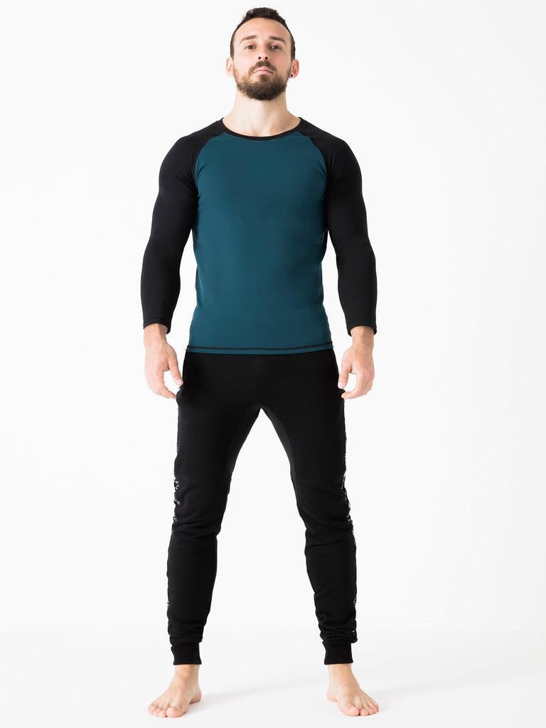 RAGLAN TEE, BLACK, LAKE