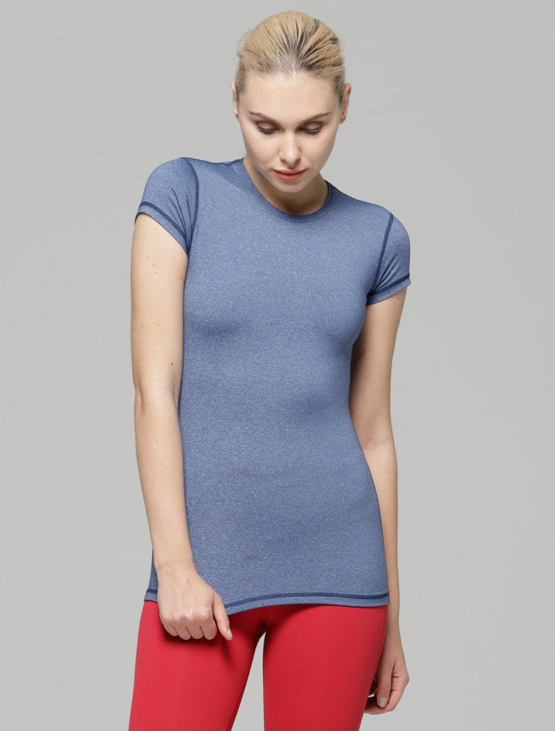 ICE TEE 2.0, HEATHER BLUE