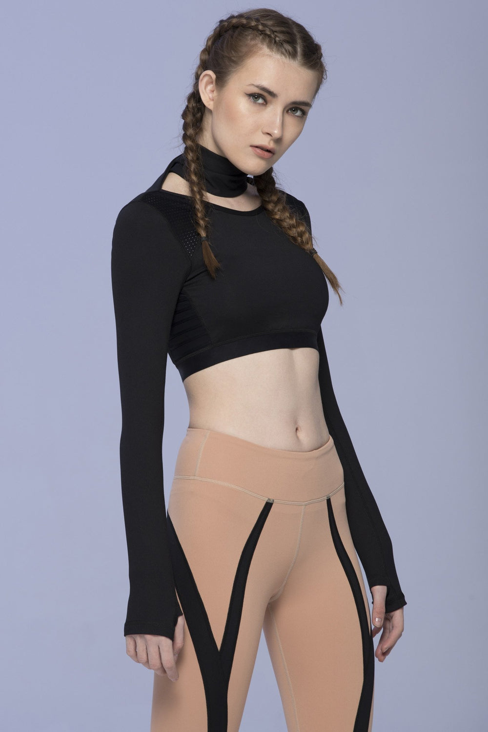CHORUS CROPPED TOP, BLACK