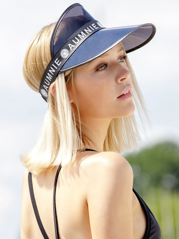 BLACK SUMMER VISOR, BLACK