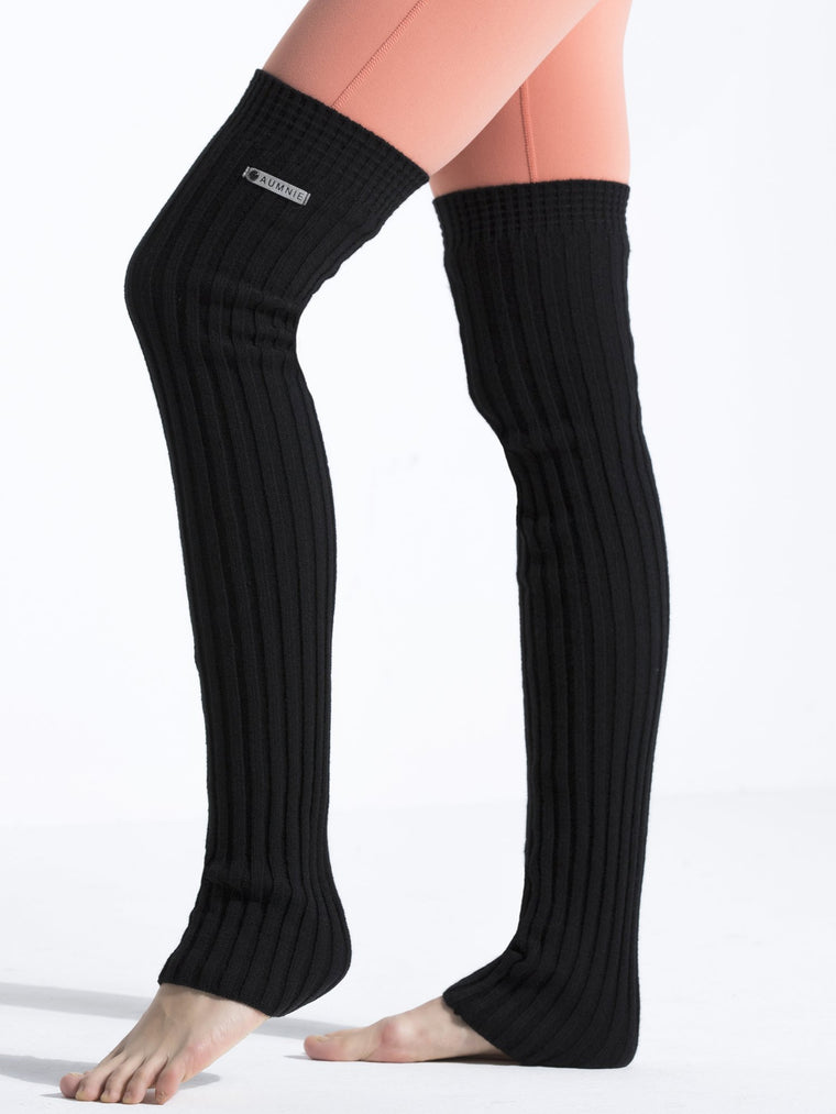 KNEE HIGH LEG-WARMERS, BLACK