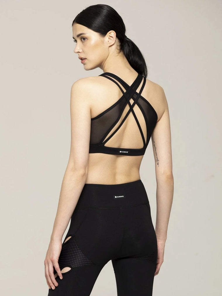 CONNECTION BRA 2.0, BLACK/BLACK MESH