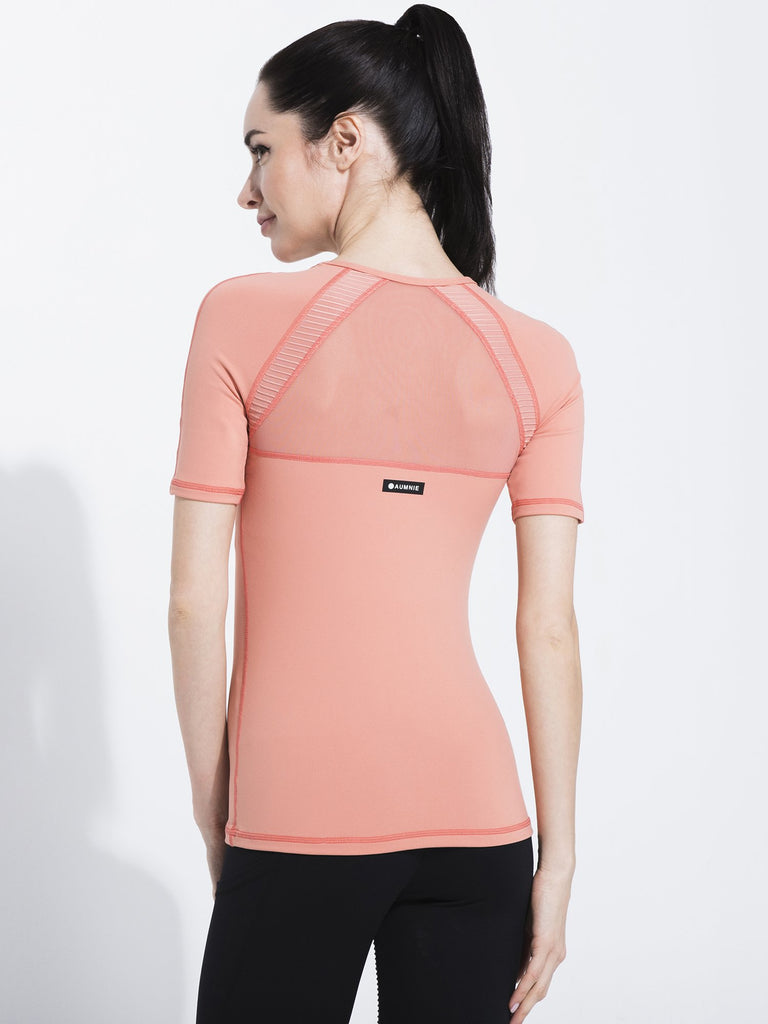 PLEATED MESH TEE, CALIFORNIA