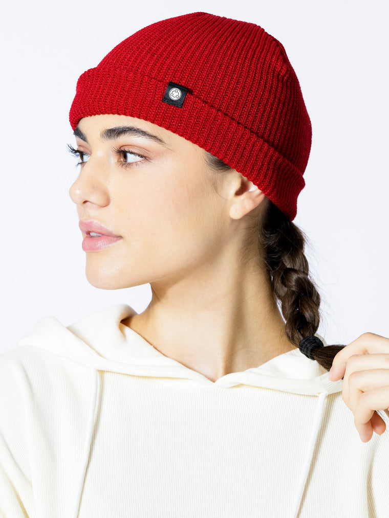 BROOKLYN BEANIE,  BURGUNDY