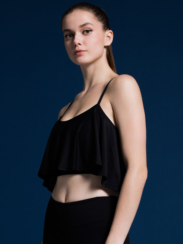 SANDS CROPPED TOP, BLACK