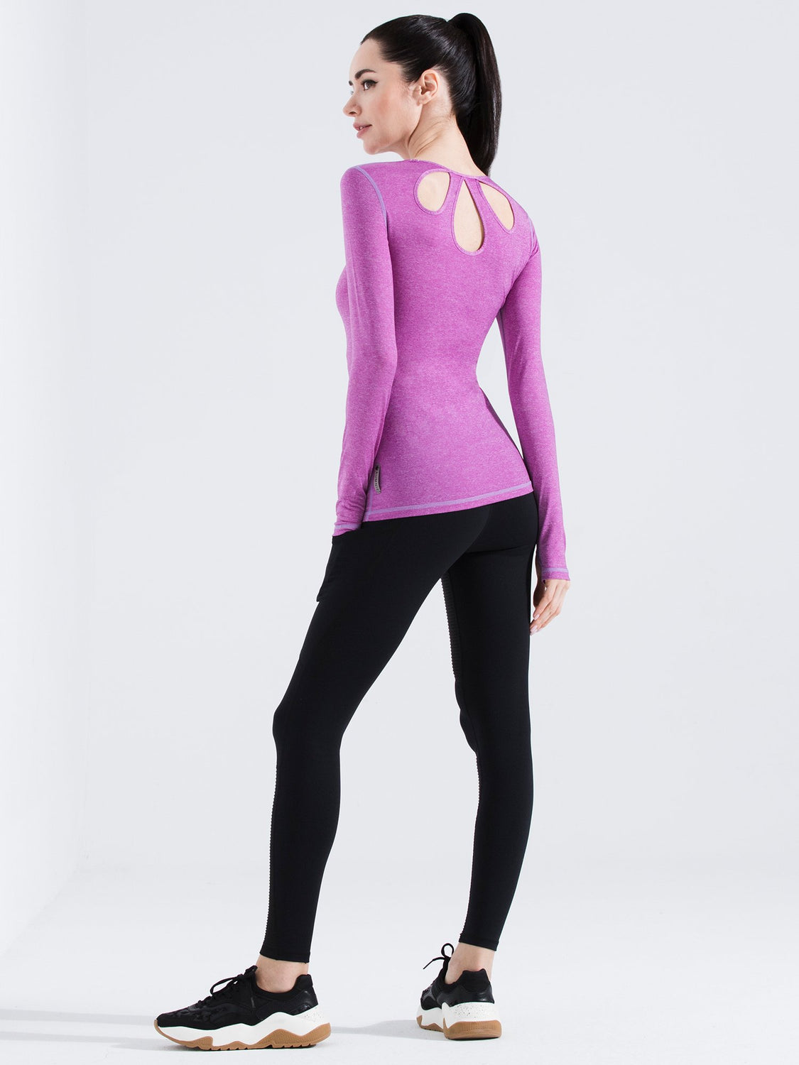 PETAL LONG SLEEVE TEE, PURPLE WFX