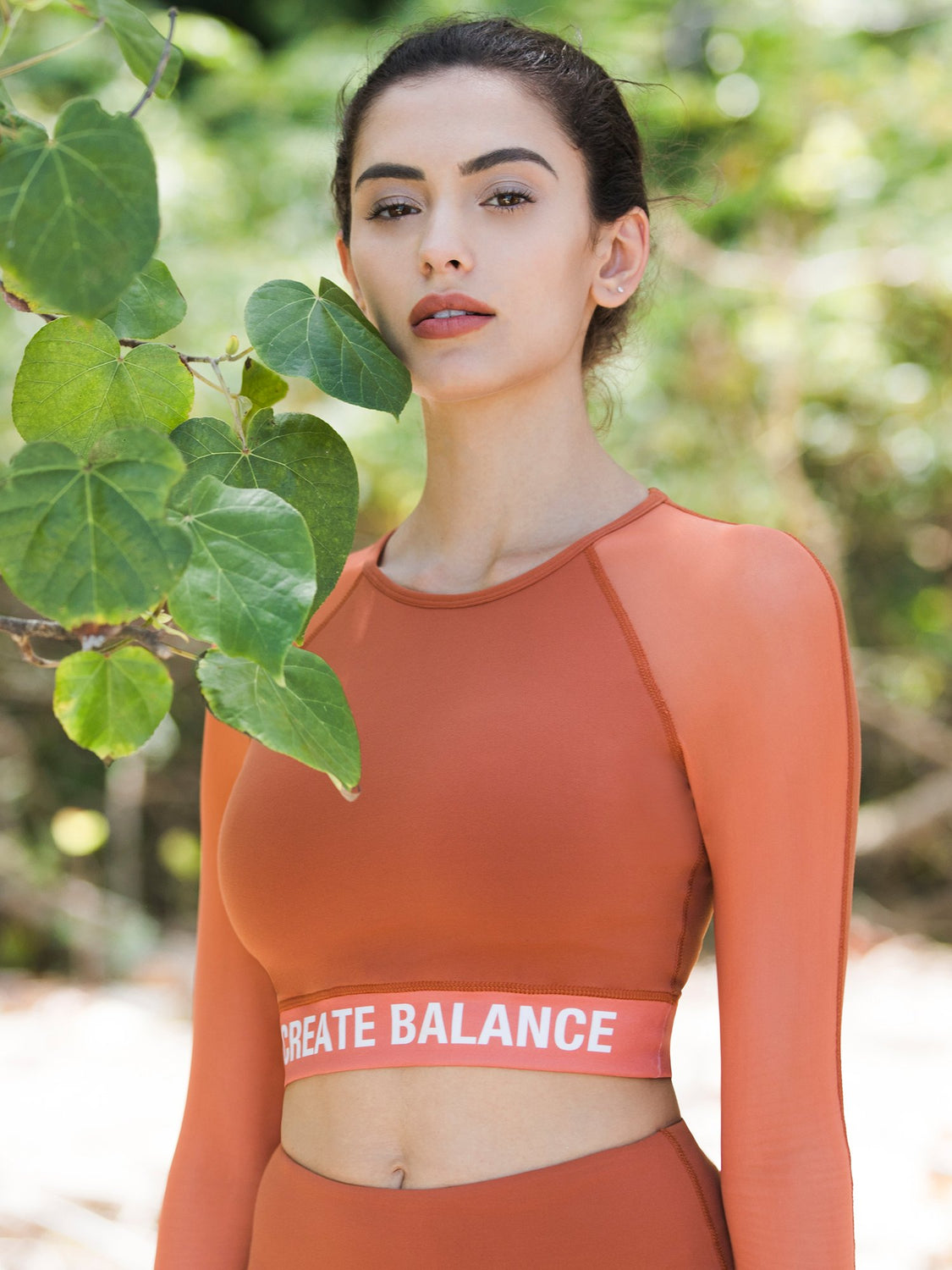 CREATION CROPPED TOP, MAPLE