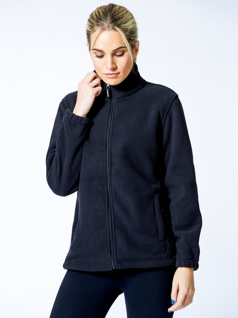 OUTDOOR FLEECE JACKET, BLACK