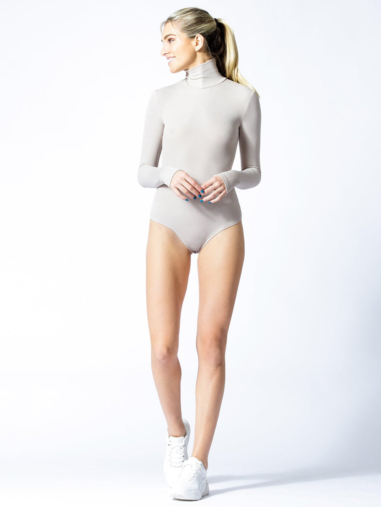 TURTLENECK BODYSUIT, MIXED ROSE