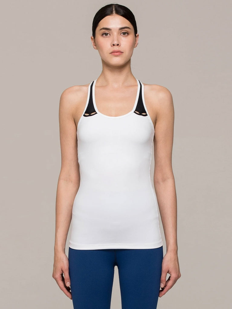 RESONANCE TANK, WHITE/PERFORATED BLACK