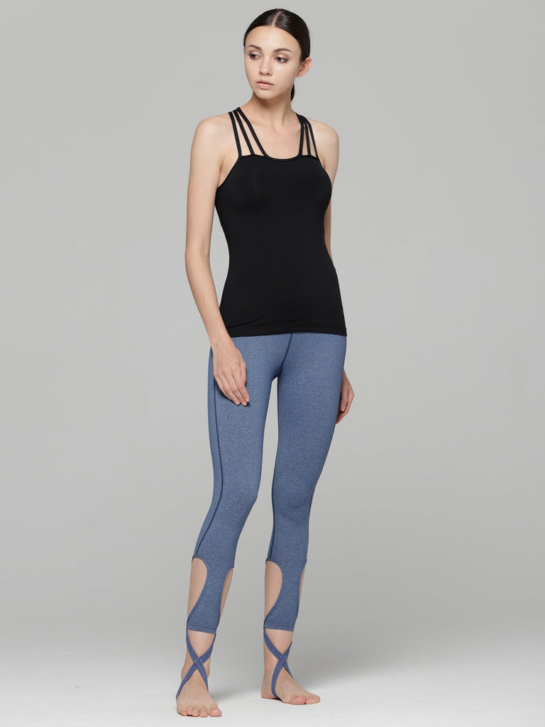 DEVI ANKLE CROPS 2.0, HEATHER BLUE