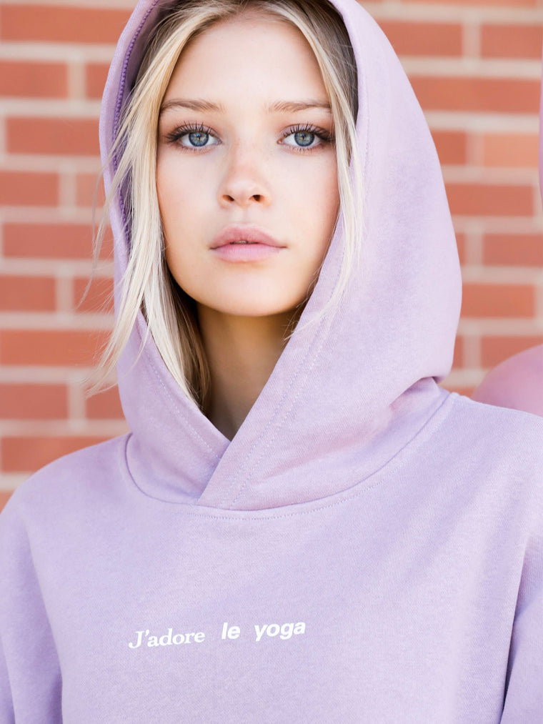 FRENCH YOGA HOODIE, PURPLE
