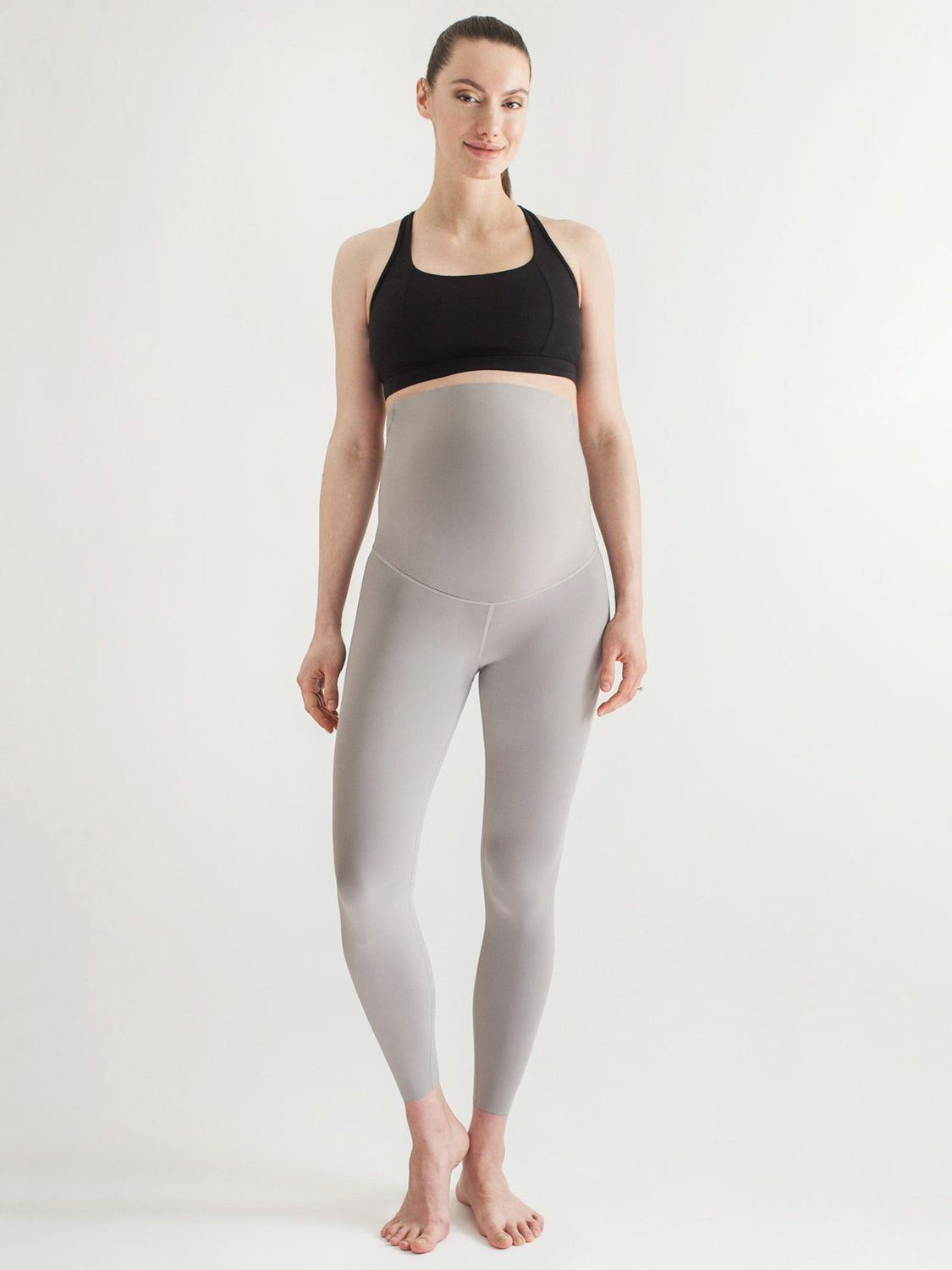 OVER THE BUMP MATERNITY SHAPE PANTS, LUNAR GREY