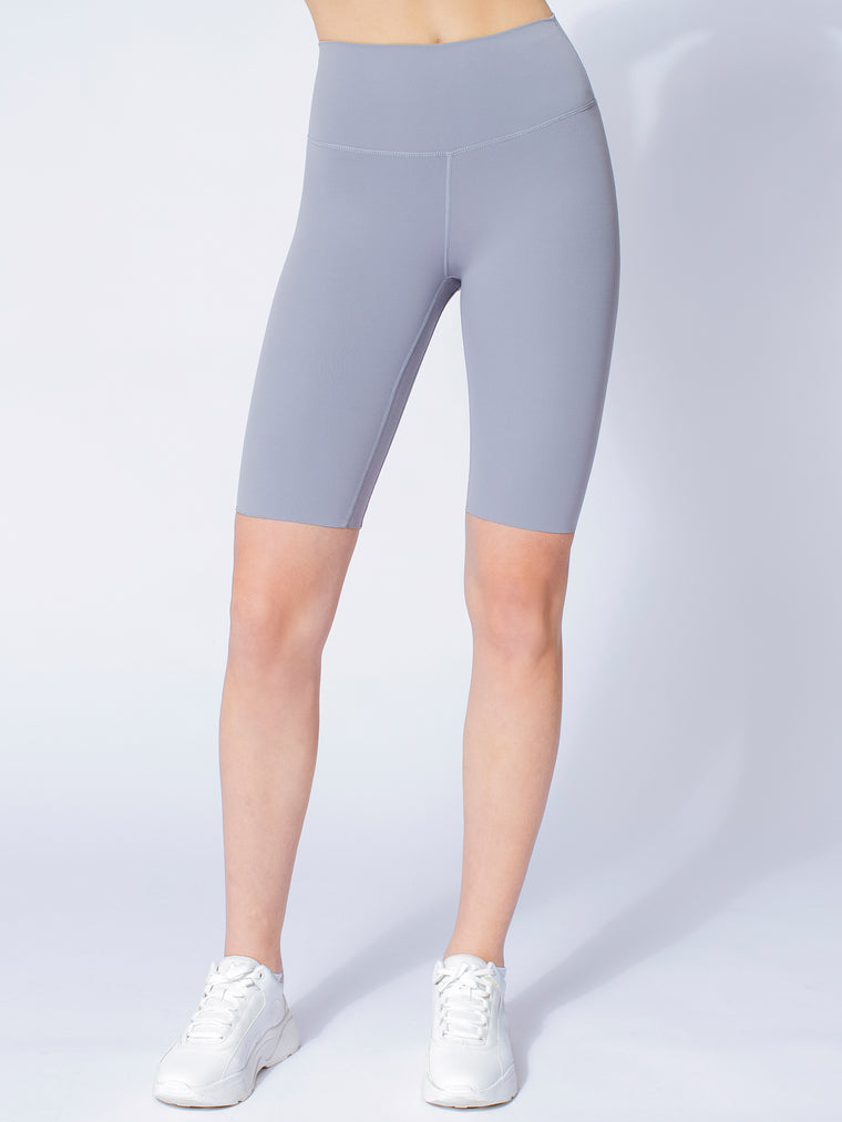 NUDE SHAPE BIKER SHORTS, LUNAR GREY