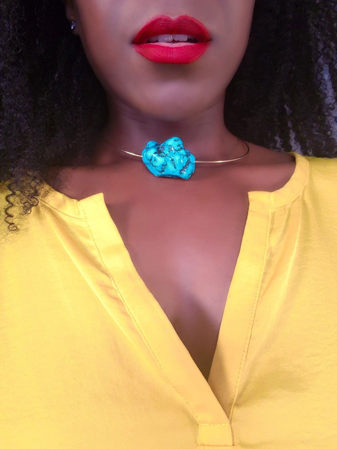 ST. GEORGE TURQUOISE CHOKER NECKLACE