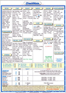 Cessna T 210 M 6.5 X 9 inch Double Sided Checkmate Checklist - Pilot Resources & More