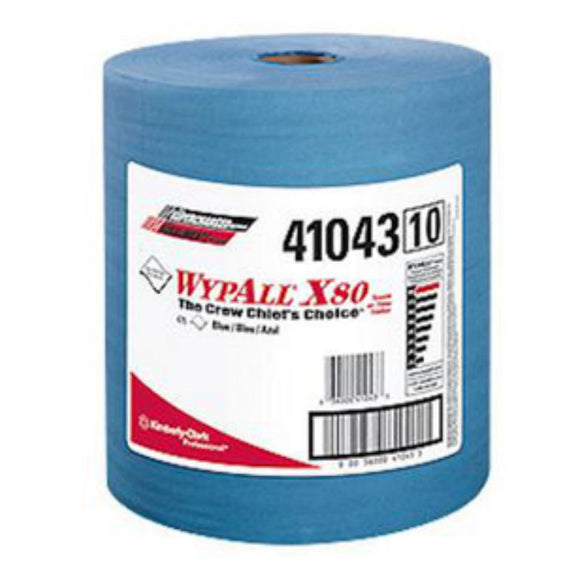 WypAll - X80 ShopPro Heavy Duty Shop Towels - Blue - Roll