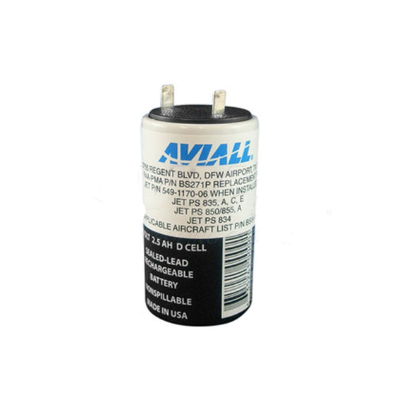 Aviall - FAA-PMA Sealed Lead Acid 2,5 Volt JET 834/835/850/855 Battery - Pilot Resources & More