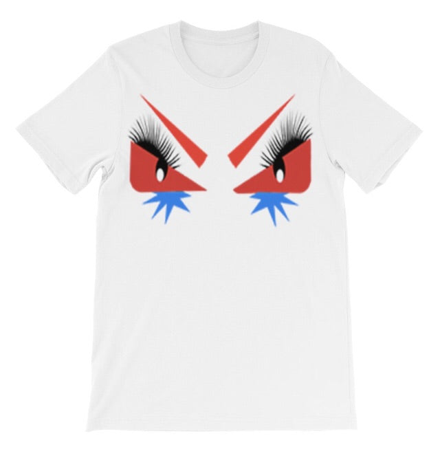 RED CRAZY EYES MONSTER TEE