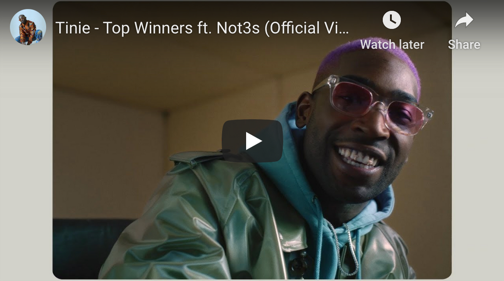 Tinie ft. Not3s - Top Winners