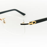 Cartier Black Rectangle Vintage Sunglasses - THE VINTAGE TRAP