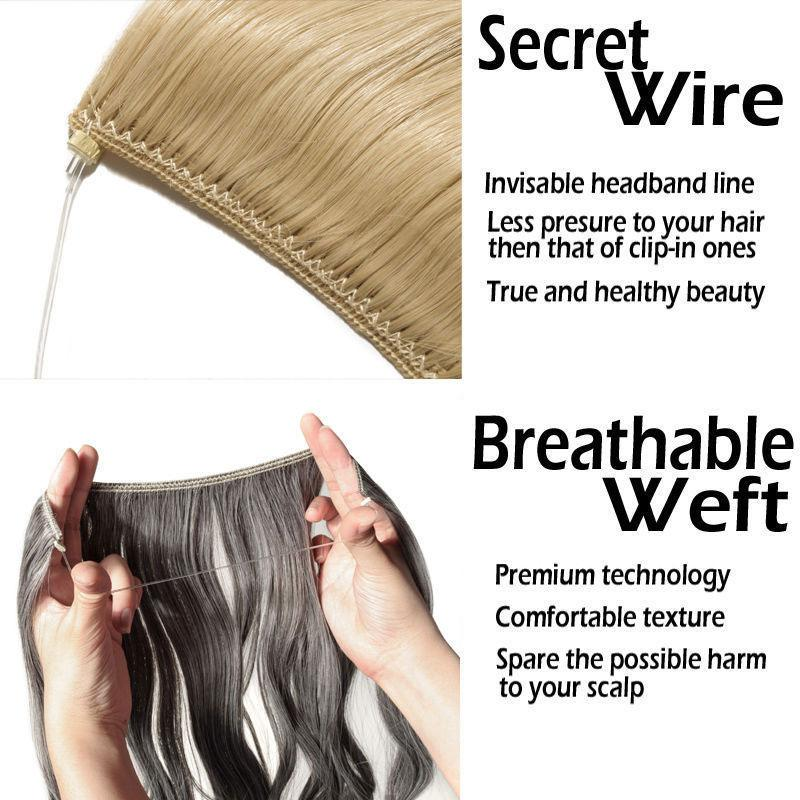 Invisible Wire Hair Extensions 20 Inches – Best-By-Us