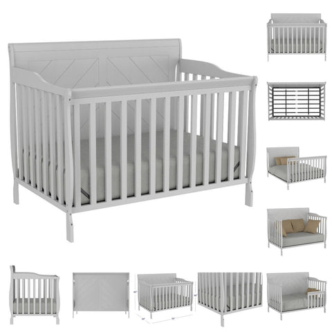 crib lauren light grey