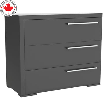 Desk 3 drawer - Alpine - Dark gray
