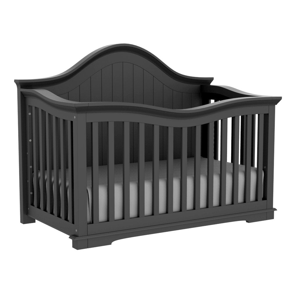 4 in 1 Convertible Crib - Zoé - Dark Gray